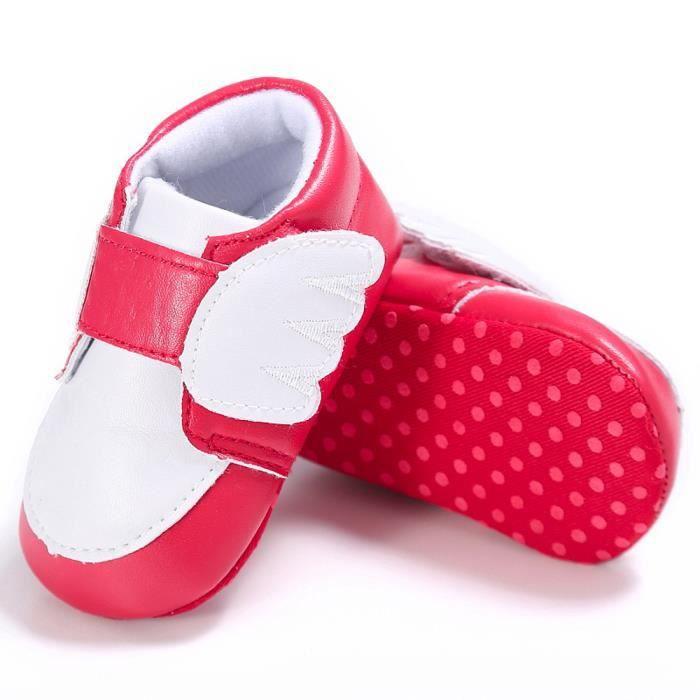 BOTTE Nouveau-né nourrisson bébé garçon fille ailes crèche chaussures doux semelle anti-dérapant sneakers@RougeHM 4ABl6V0Wa
