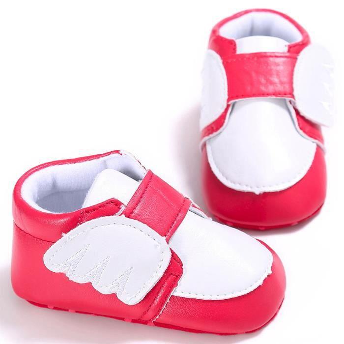 BOTTE Nouveau-né nourrisson bébé garçon fille ailes crèche chaussures doux semelle anti-dérapant sneakers@RougeHM
