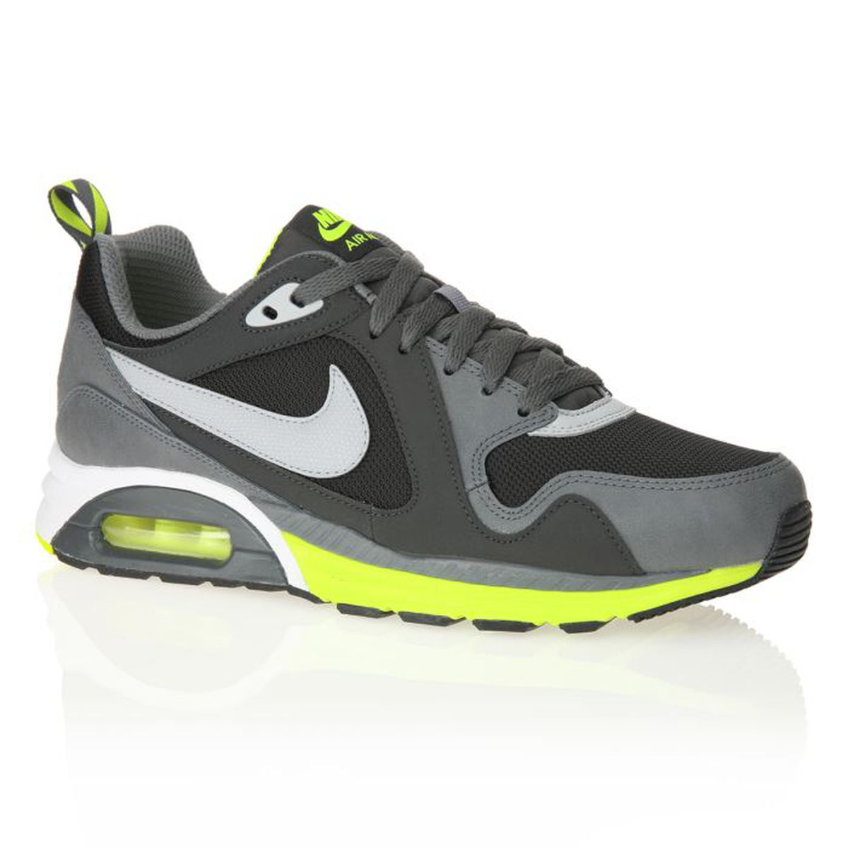 NIKE Baskets Air Max Trax Homme Gris et jaune fluo Achat