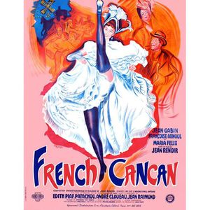 AFFICHE - POSTER FRENCH CANCAN reproduction poster cinéma 60x80