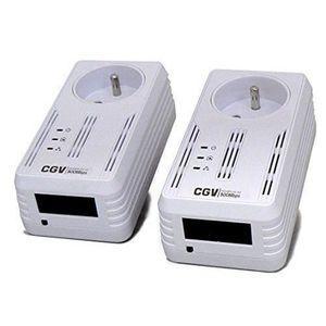 COURANT PORTEUR - CPL CGV CPLINE 2P-502 Pack de 2 Adaptateurs CPL 500 Mb