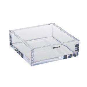 VIDE POCHE GERSON Vide poche carré - 14,5x14,5x5 cm - Transpa