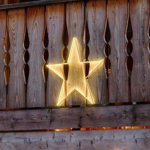 GUIRLANDE D'EXTÉRIEUR LOTTI Décoration étoile 64 cm - 150 Strip LED - Lu