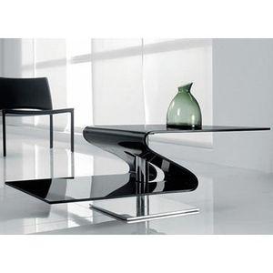 Table Basse Design En Verre Trempé Et Piètement Achat Vente