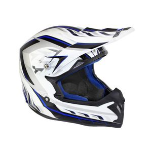 CASQUE MOTO SCOOTER Casque cross adulte NO END Defcom 5 - Bleu