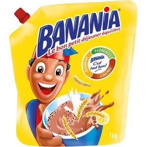 CACAO - CHOCOLAT BANANIA Chocolat en poudre 3 céréales 1kg