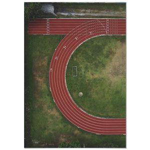 TABLEAU - TOILE Panorama® Affiche Vue Aérienne Piste d'Athlétisme
