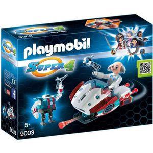 FIGURINE - PERSONNAGE PLAYMOBIL Super 4 9003 Sky Jet et Docteur X