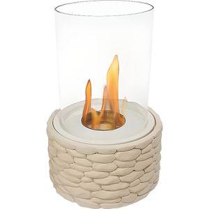 CHEMINÉE Arctos, une cheminée de table tout en rondeur verr