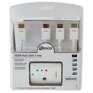 CÂBLE TV - VIDÉO - SON Switch HDMI X 3 Câbles 2.5 m + 3 x 0.5 m