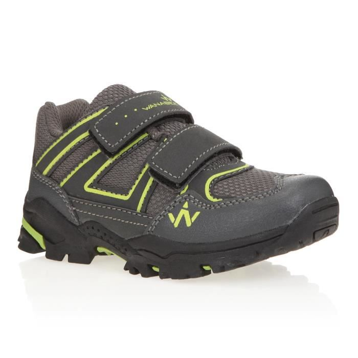 1ER PRIX Chaussures de randonnée Hike 100 Low - Enfant Mixte - Gris et vertCHAUSSURES DE RANDONNEE