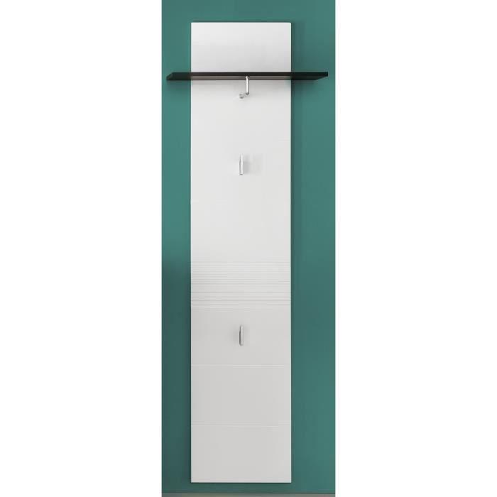 MEUBLE D'ENTRÉE SMART Dressing contemporain mélaminé gris et blanc