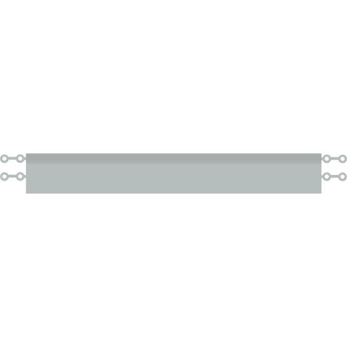 D-C-FLOOR Baguettes de finition droite clipsables - Polypropylène - Gris