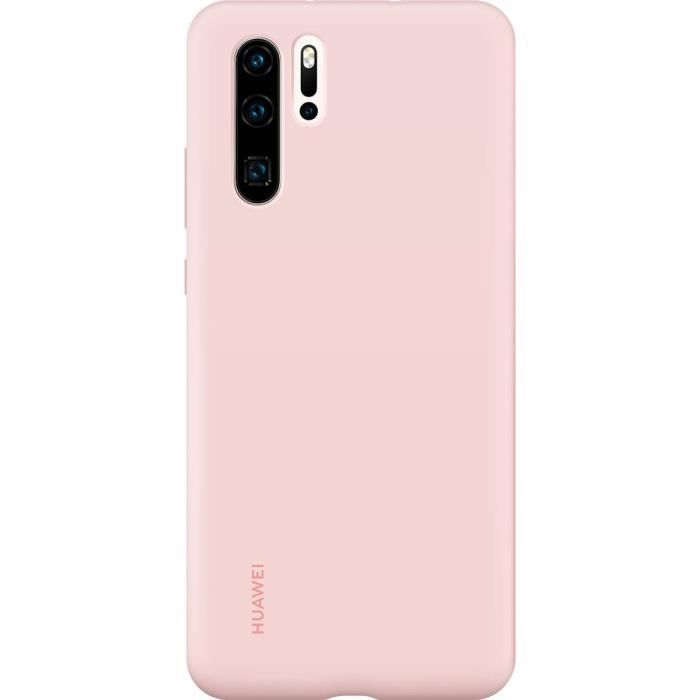 HUAWEI Silicone Case Pink Coque rigide finition soft touch rose Huawei pour P30 Pro