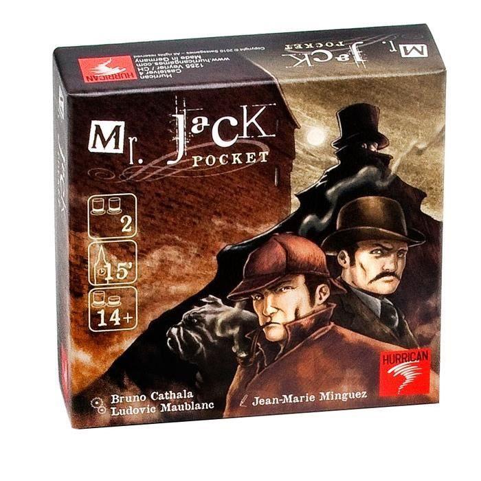 ASMODEE - Mister Jack (de Poche) - Découvrez la version poche de Mr Jack, le jeu d'enquête préféré des fins stratèges ! - Mixte - A partir de 14 ans - Livré à l'unitéJEU DE SOCIETE - JEU DE PLATEAU