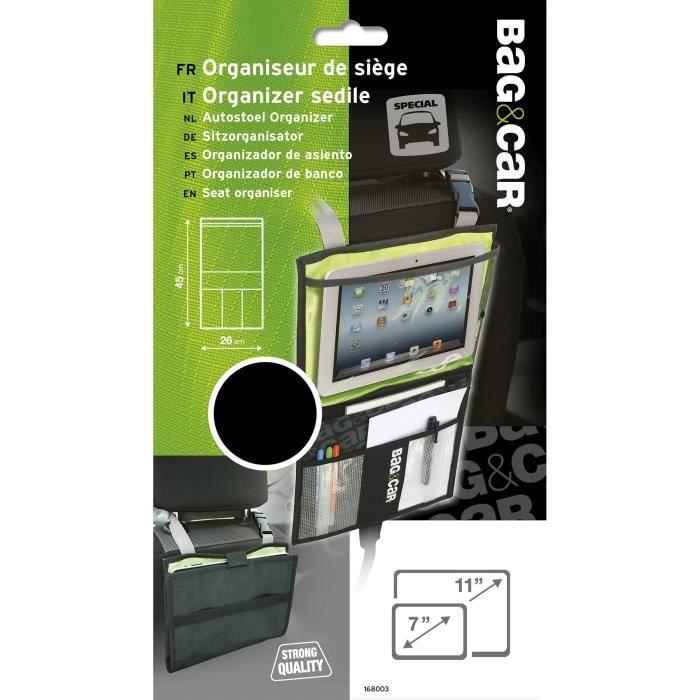 BAG&CAR Organiseur de siège-support tablette