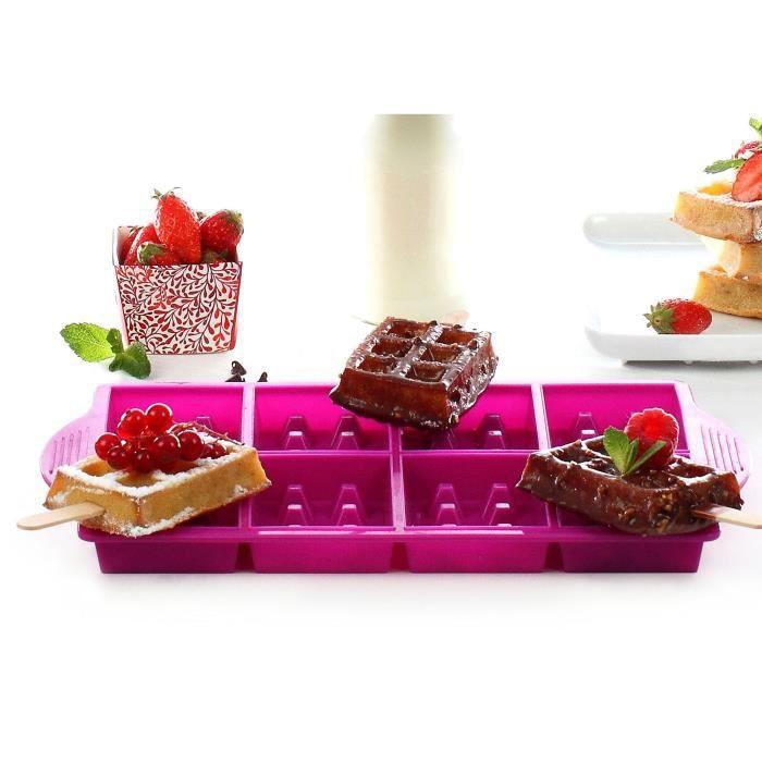 YOKO DESIGN Moule à mini gaufre pour party - Fuchsia