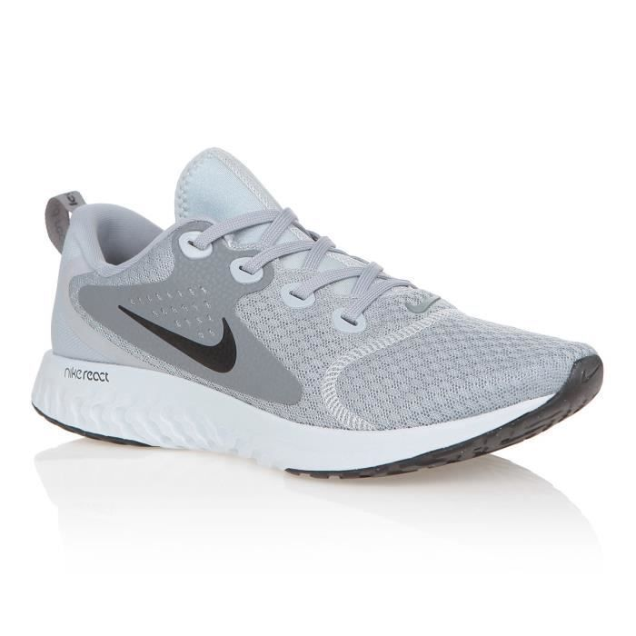 reputable site 39597 7f16f NIKE Baskets Rebel React - Homme - Gris. CHAUSSURES DE RUNNING ...