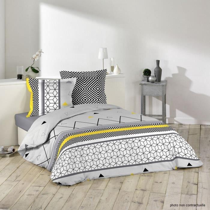 housse de couette geometrique achat vente housse de couette geometrique pas cher soldes. Black Bedroom Furniture Sets. Home Design Ideas