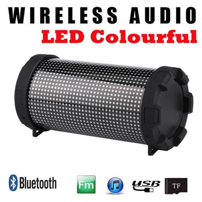 Haut-parleur Bluetooth Portable Led Mini Sans Fil Lecteur De Musique Son Colum_mo4078