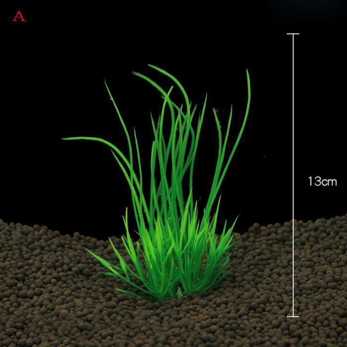 Poissons Décoration Réservoir En Plastique Aquarium Vert Herbe Plantes Eau Ornement Plante@louiserr351