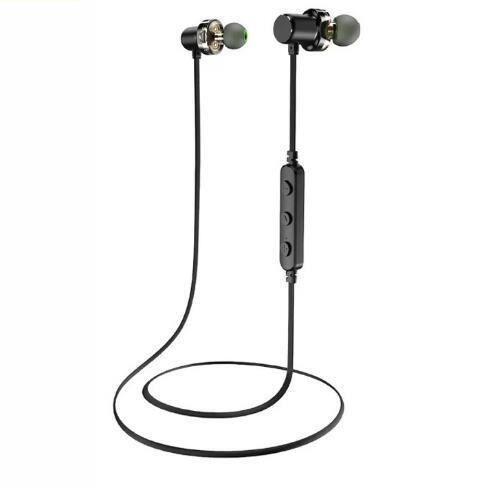 Awei Double Action Anneau Sport Écouteurs Étanches Bluetooth Mini Métal Casque Pour Téléphone Mobile