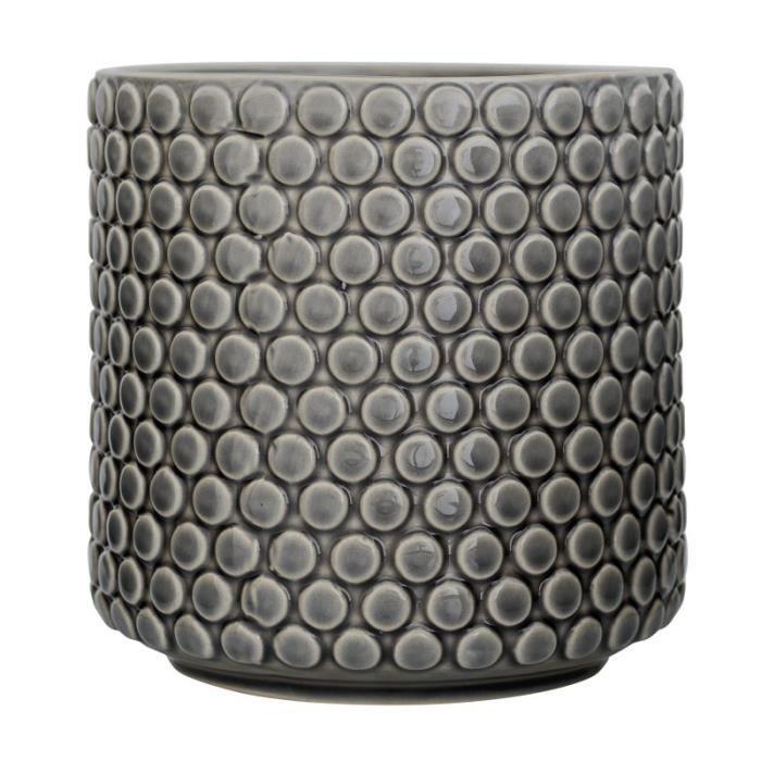 Pot De Fleur Gris En Ceramique 15 5x15 5cm Bloomingville Gris