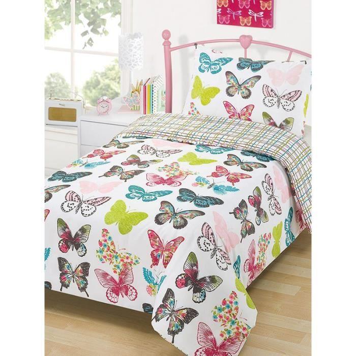 housse de couette avec des papillons achat vente housse de couette avec des papillons pas. Black Bedroom Furniture Sets. Home Design Ideas