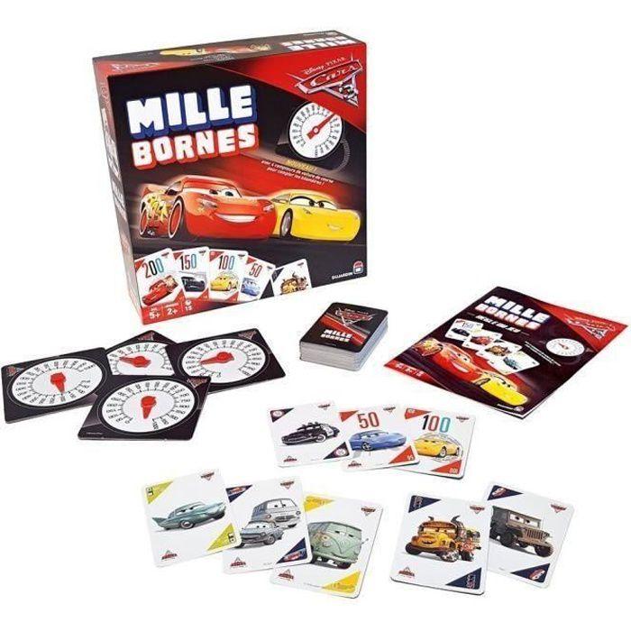 JEU SOCIÉTÉ - PLATEAU DUJARDIN Mille Bornes Cars 3