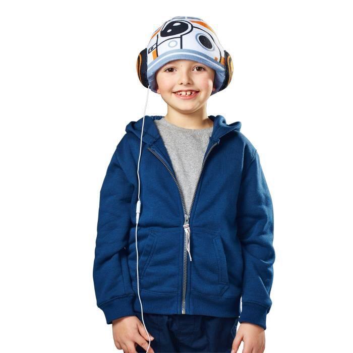 CASQUE AUDIO ENFANT STAR WARS Bonnet avec Ecouteurs Intégrés BB-8 ... 0d34e486e8a