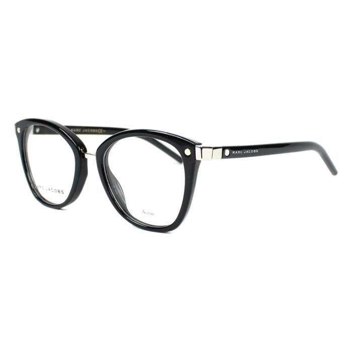 Lunettes de vue Marc Jacobs MARC 24 -807 Noir brillant - Argent brillant a4fb3c00c723