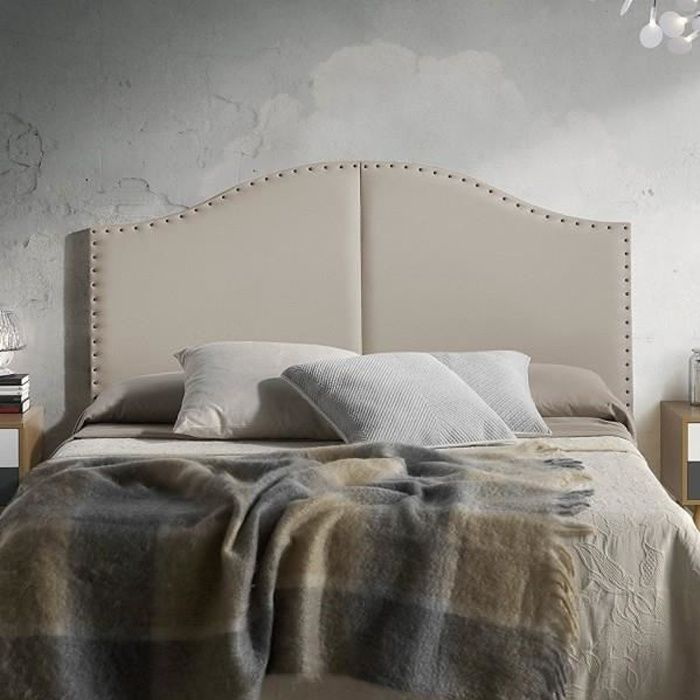 t te de lit beige achat vente t te de lit beige pas cher cdiscount. Black Bedroom Furniture Sets. Home Design Ideas