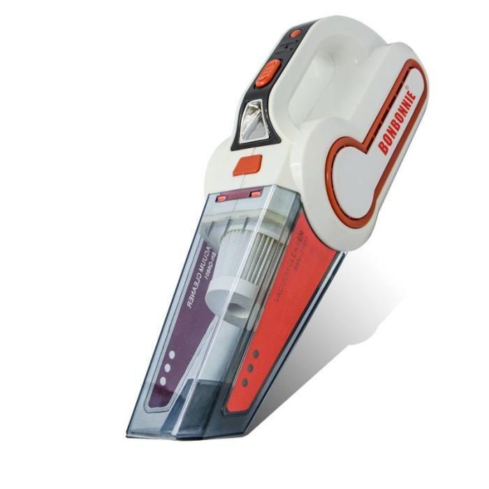 aspirateur main sans fil rechargeable voiture portable 120w 12v