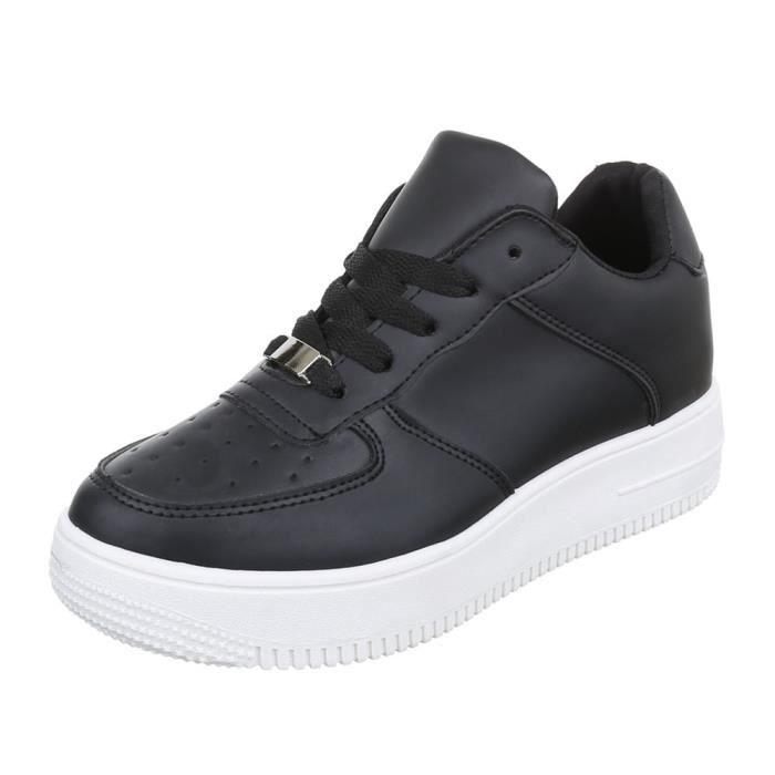 femmechaussures décontractéeschaussureLow-top Sneaker chaussure de sport Streetwear