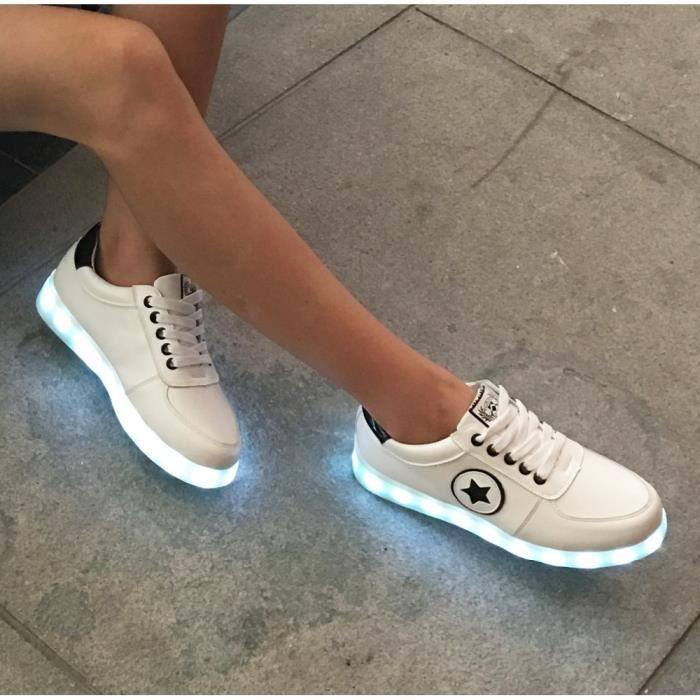 Lumineux Rougeoyant de Sneakers Sport Led Chaussures pour Garçons Filles Enfants
