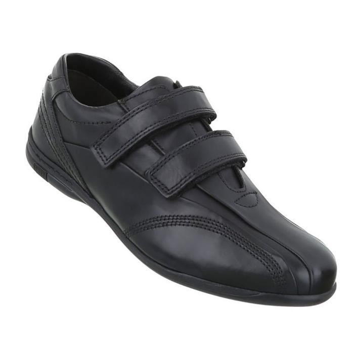 Chaussures Hommes flâneurs cuir noir 45