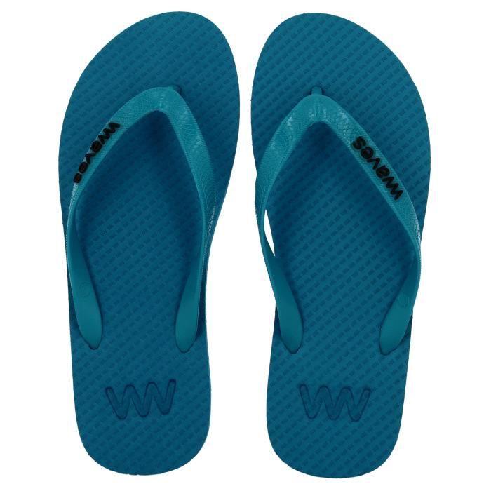 Waves 100% Flip Flops en caoutchouc naturel et unisexe pour Regular Fit Sandales Chaussons - Essentials Z8G5Y Taille-37
