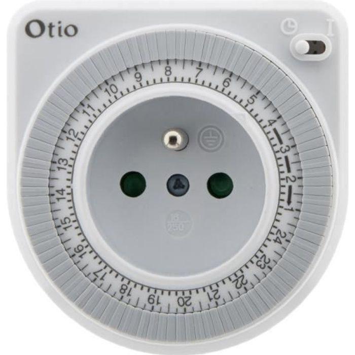 otio programmateur mecanique blanc achat vente prise programmable programmateur m canique. Black Bedroom Furniture Sets. Home Design Ideas