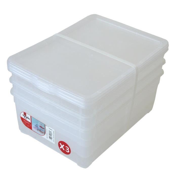 boite rangement plastique avec couvercle - achat / vente boite