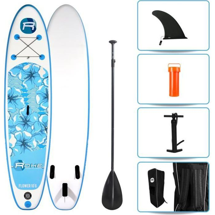 STAND UP PADDLE ROHE Pack Paddle Gonflable Flower 10'6(320cm) x 30
