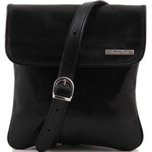 Tuscany Leather - Sac porté épaule cuir - Noir …