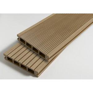revetement en planche lame terrasse bois composite alvolaire dual l - Destockage Lame Composite