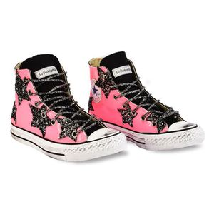 CONVERSE FEMME H03LABR0902 ROSE CUIR BASKETS MONTANTES G8rbH6f