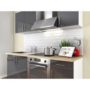 Meuble cuisine gris laque - Achat / Vente pas cher