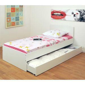 lit 1 personne matelas sommier achat vente lit 1 personne matelas sommier pas cher cdiscount. Black Bedroom Furniture Sets. Home Design Ideas