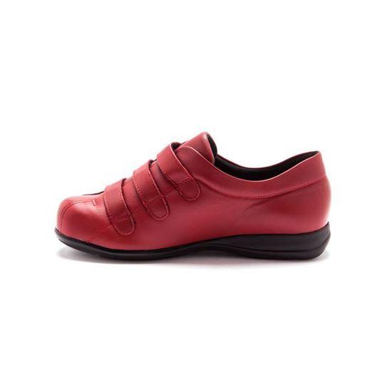 Derbies à scratch pour pieds sensibles Rouge - Achat   Vente derby -  Cdiscount d4093c82fabf