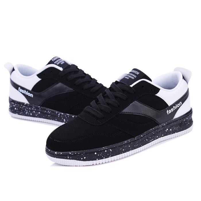 Chaussures De Sport Pour Hommes en daim Textile De Course Populaire BBZH-XZ122Bleu39