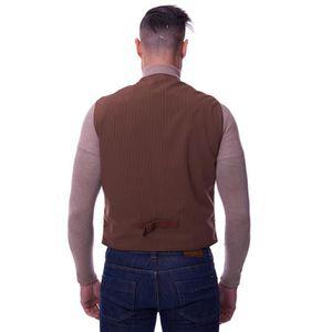 ... GILET - CARDIGAN GILET TESS • couleur marron • gilet homme cuir plo. ‹› b7c819456286