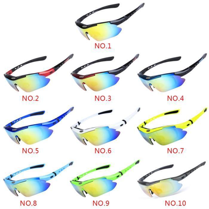 Lunettes de soleil polarisées avec 5 lentilles interchangeables pour faire du vélo #2