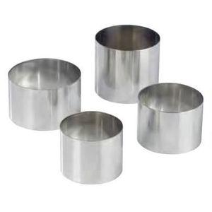 EMPORTE-PIÈCE  NONNETTES RONDES INOX Diametre:8 cm - Hauteur:5 cm